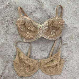 32DDD Wacoal and DNKY lace underwire bras